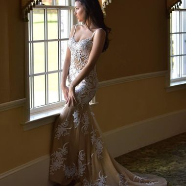 Beautiful Jessie in a stunning gown.