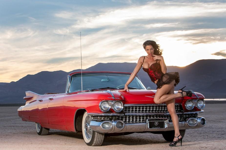 Cadillac Boulder City dry lake bed