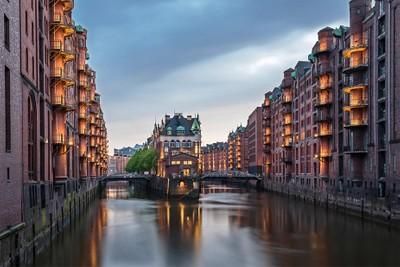 Hamburg lights on