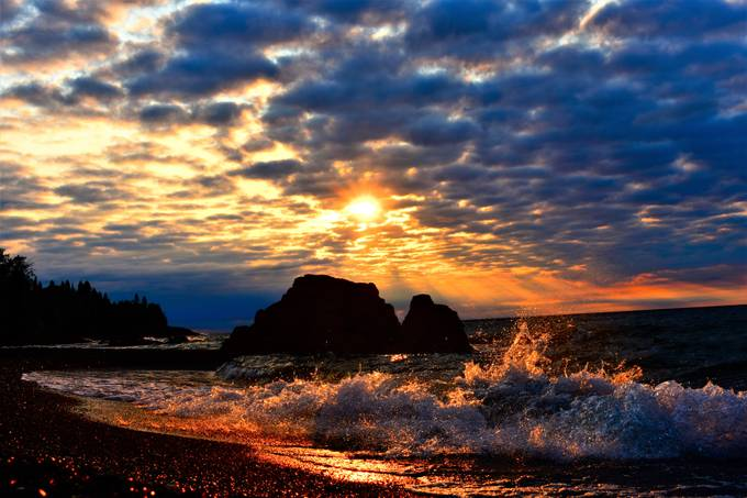 Taken from the shore by Lutsen Resort on Lake Superior