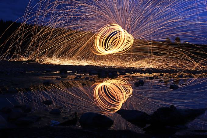 Steel wool vortex by BrettMagdee - Spirals And Composition Photo Contest