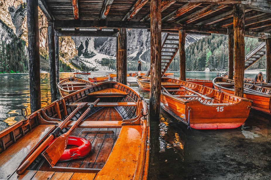 Different angle photo on Lago Di Braies