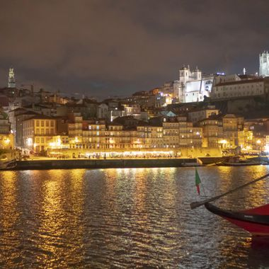 On night shot looking across the Douro river.