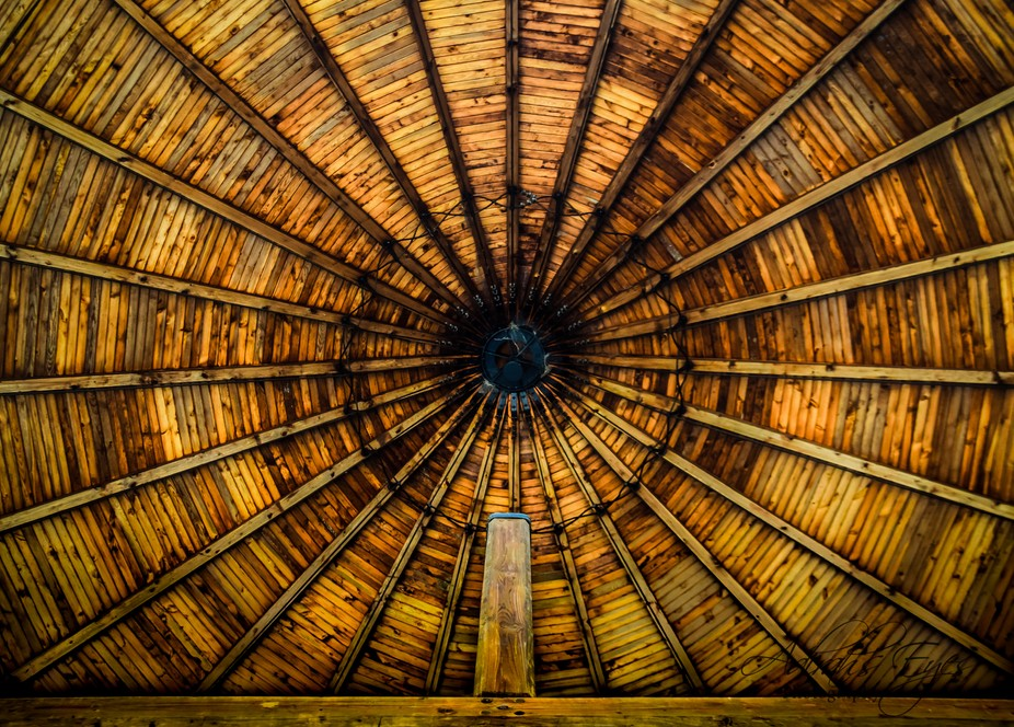 This shot is the ceiling of the structure on the grounds of Dachau Concentration Camp in Germany....