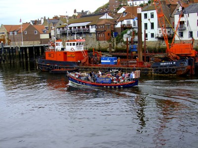 """Whitby, River Esk, Pleasure Boat, """"Whitby's Old Lifeboat"""", I"""