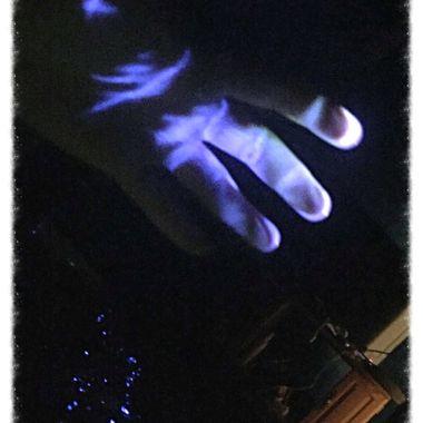 Spooky glowing hand