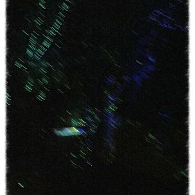 Motion glow stick splatter