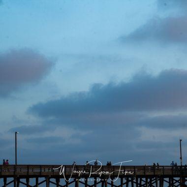 Newport Beach at sunset in California.