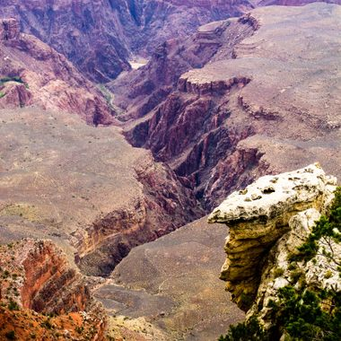 More grand canyon, this is looking over the side... a long, long way down...