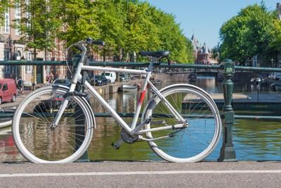 White bike in Amsterdam