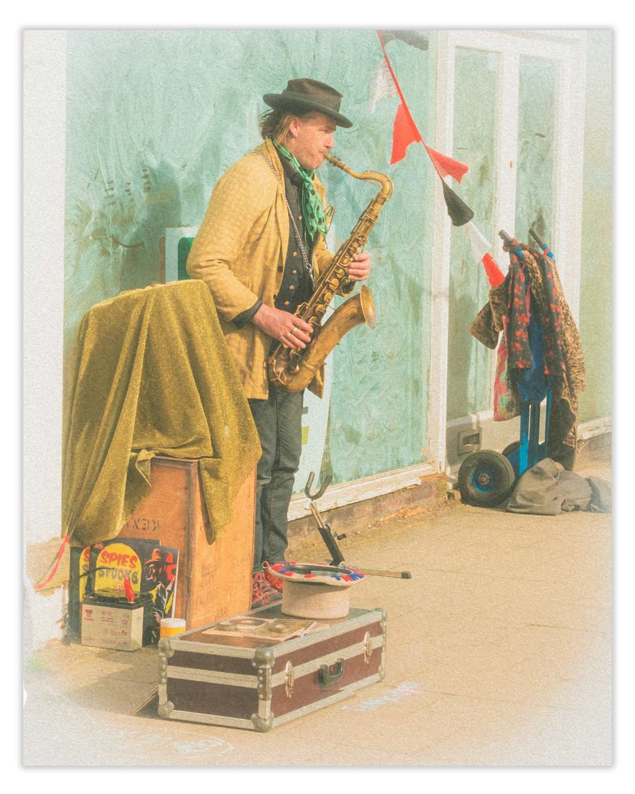 Saw this guy busking on Southwold High street. He had a 50's vibe so got creative in post.