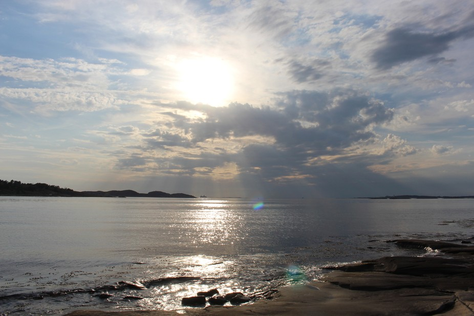 Evening in the western parts of Sweden. After a beautiful day with a wonderful weather a couple o...