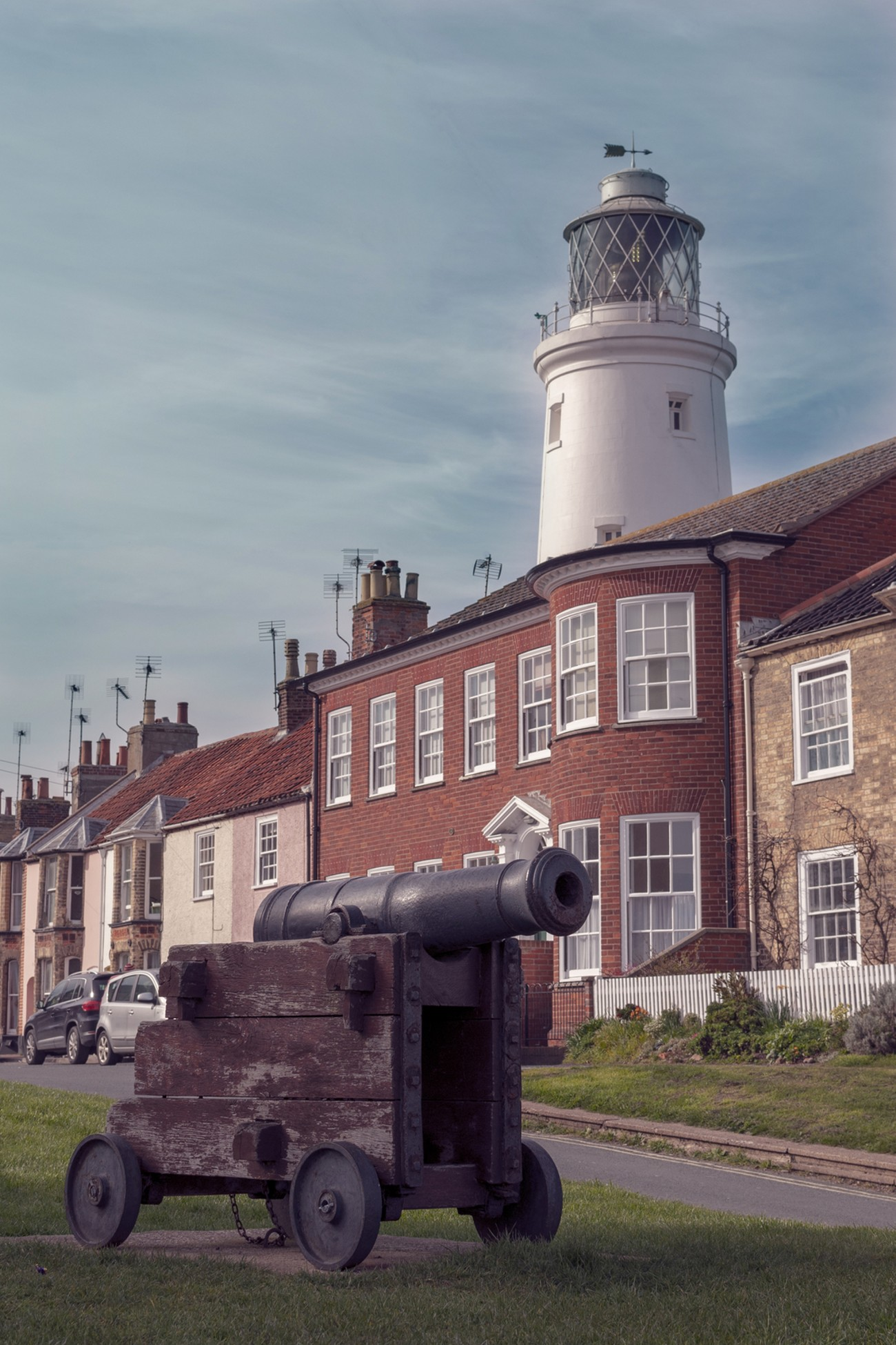 Southwold Lighthouse and Cannon
