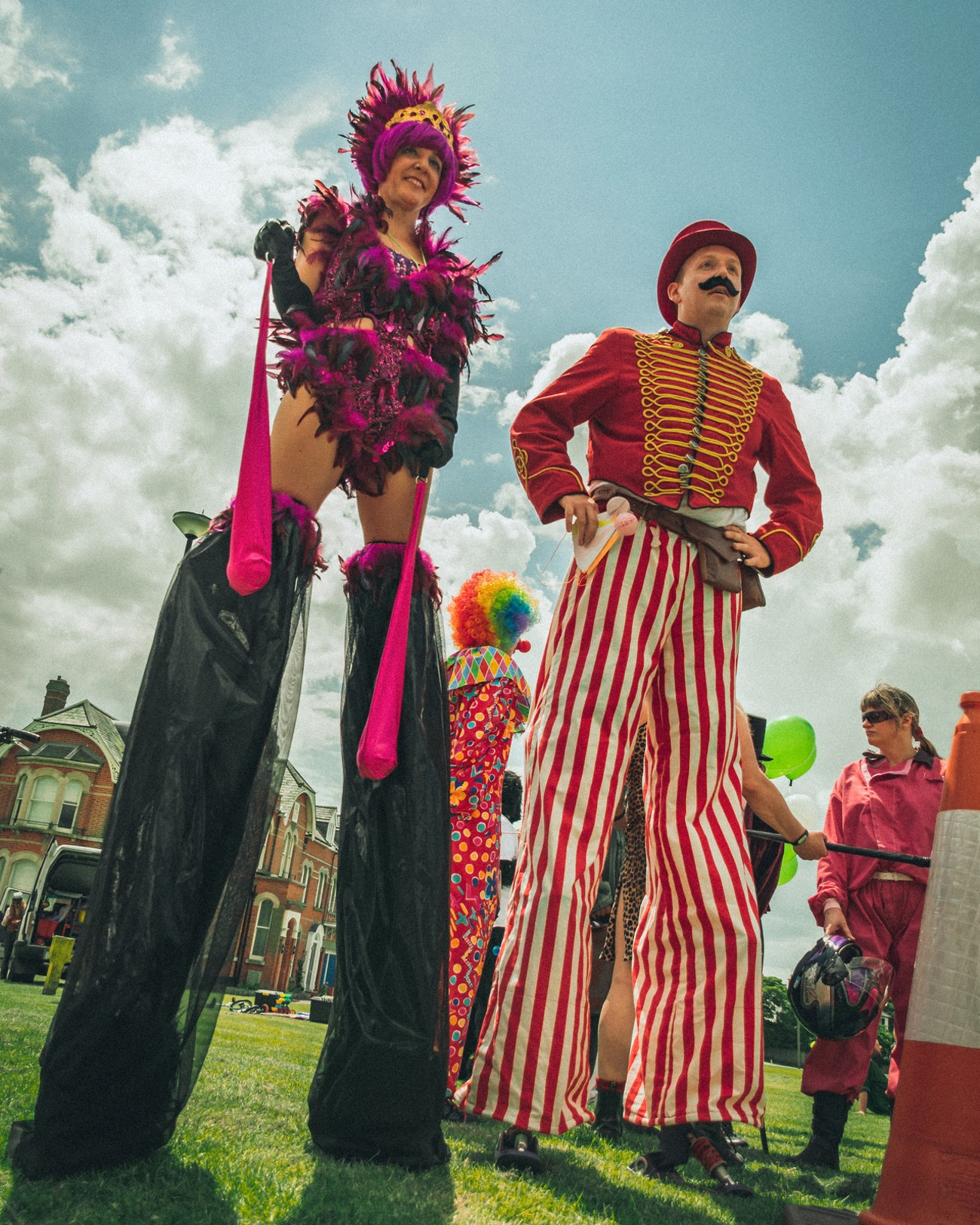 Stilt-walkers at Southwold Arts Festival