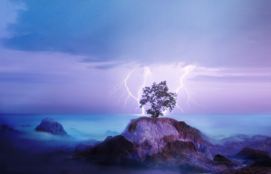 solitary in  the storm