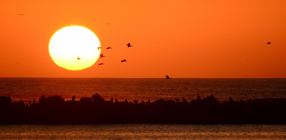Taken off the coast close to the border of Namibia on beautiful evening