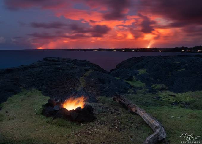 Fire and lava.  by Codyama - Image Of The Month Photo Contest Vol 37