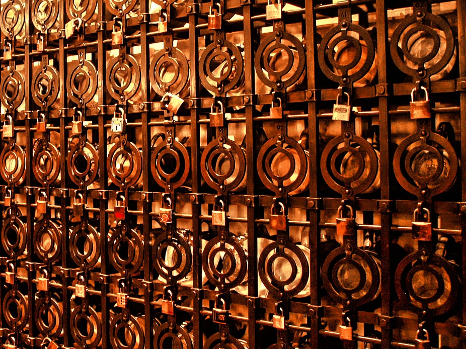 The personal beer stein lockers in Munich's Hofbrauhaus.