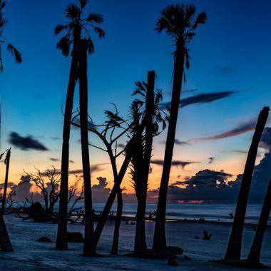 Sunrise on Boneyard Beach on Bulls Island in Awendaw, South Carolina