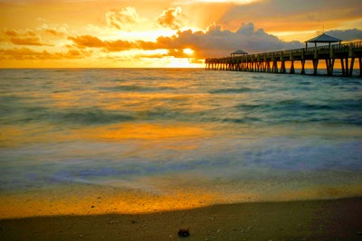 My favorite sunrise photo in Ft Lauderdale by-the - Sea.
