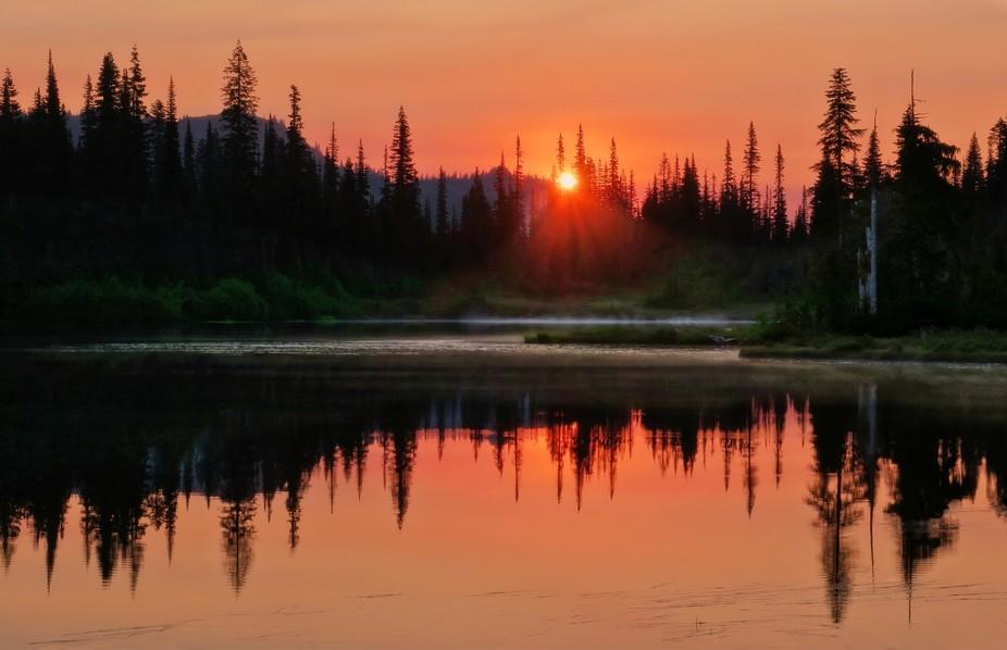 Reflection Lake in Mt. Rainier National Park