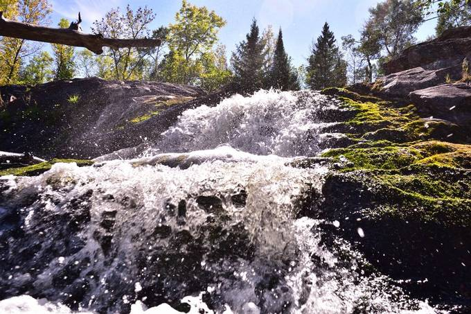 A hidden gem just a few miles from home Ash River Falls. Just a couple mile hike  from the U of M Neutreno site NOVA