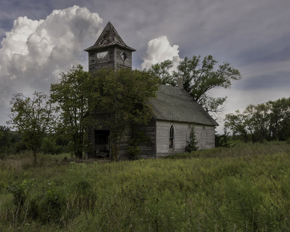 """This is in Monowi, Nebraska....Population sign says """"1""""....pretty much a ghost ..."""