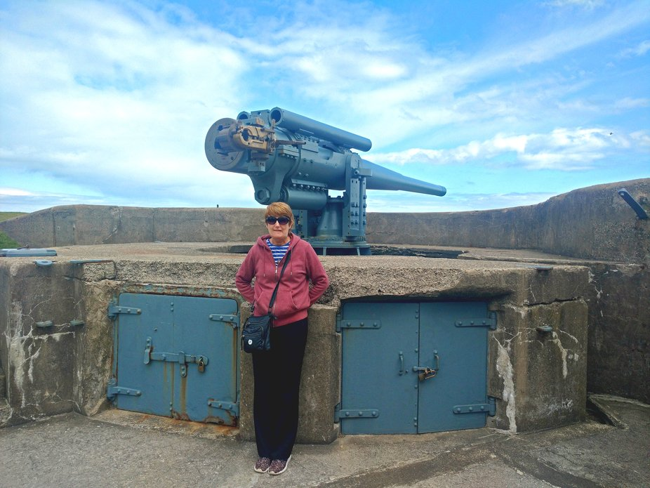 WW2 6 inch coastal gun emplacement, Tynemouth priory.