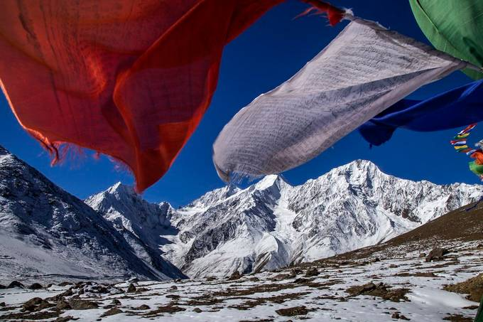 Prayer Flags by Madhabendu - Flags and Banners Photo Contest