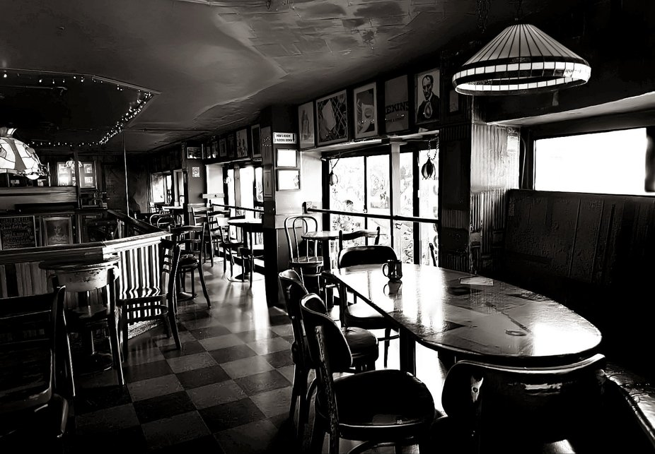 reworked version -  Photo taken at vintage Italian cafe bar in San Francisco in 2008,  and it&...