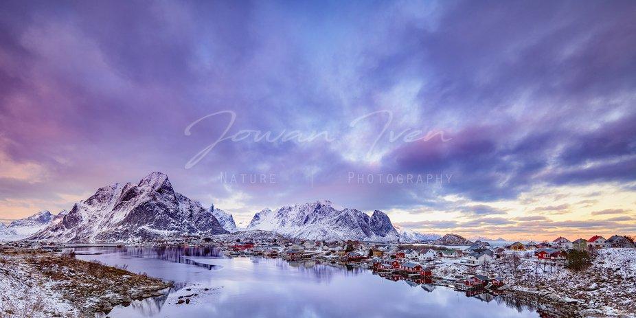 Norway in wintertime. Lofoten