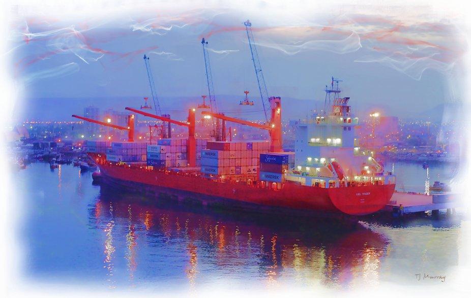 Harbor scene from Coquimbo, Chile