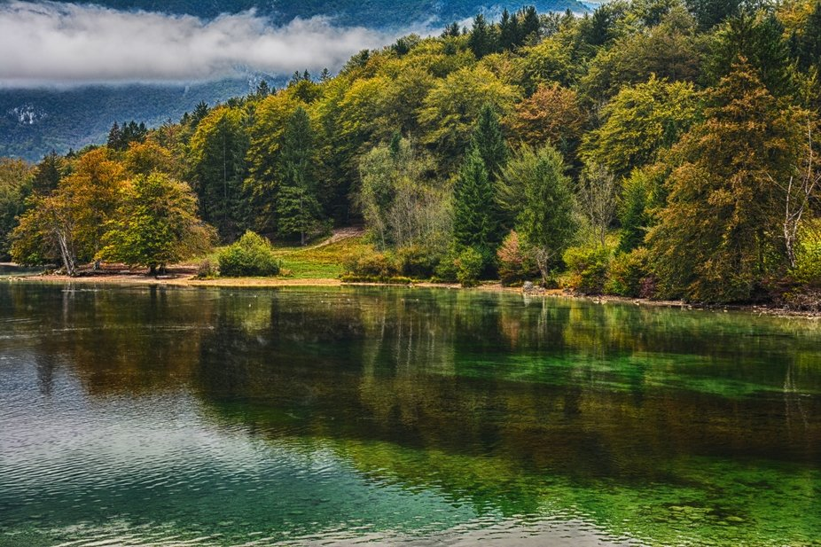 Bohijn Lake in Slovenia.