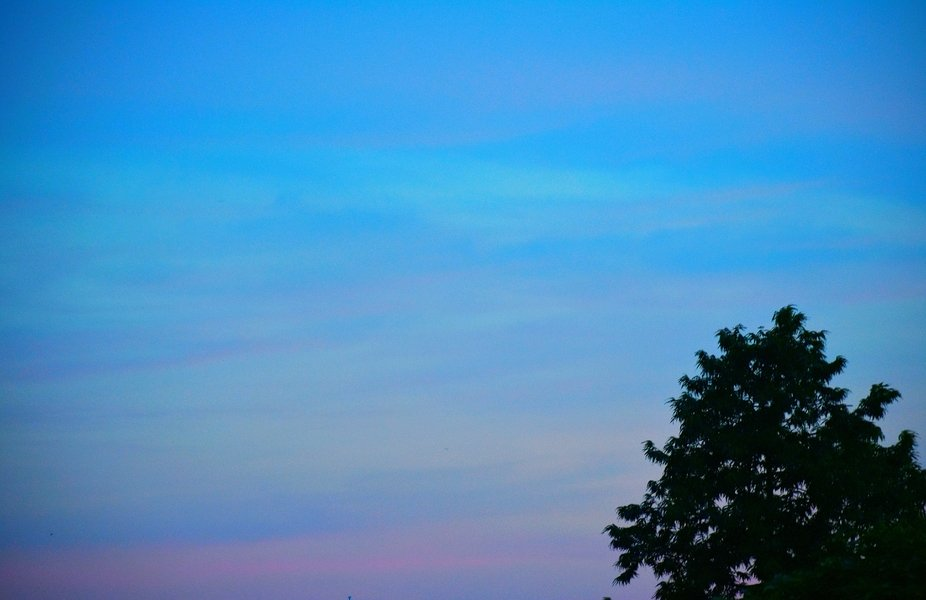 Pastel tones of the sky