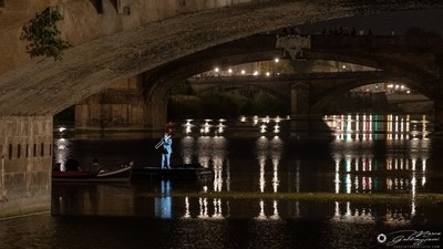 One evening, sailing on the Arno 3