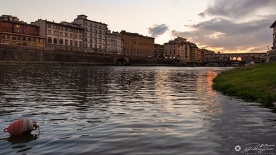 One evening, sailing on the Arno 1