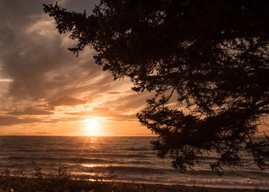 Wind brings up waves on Puget Sound.