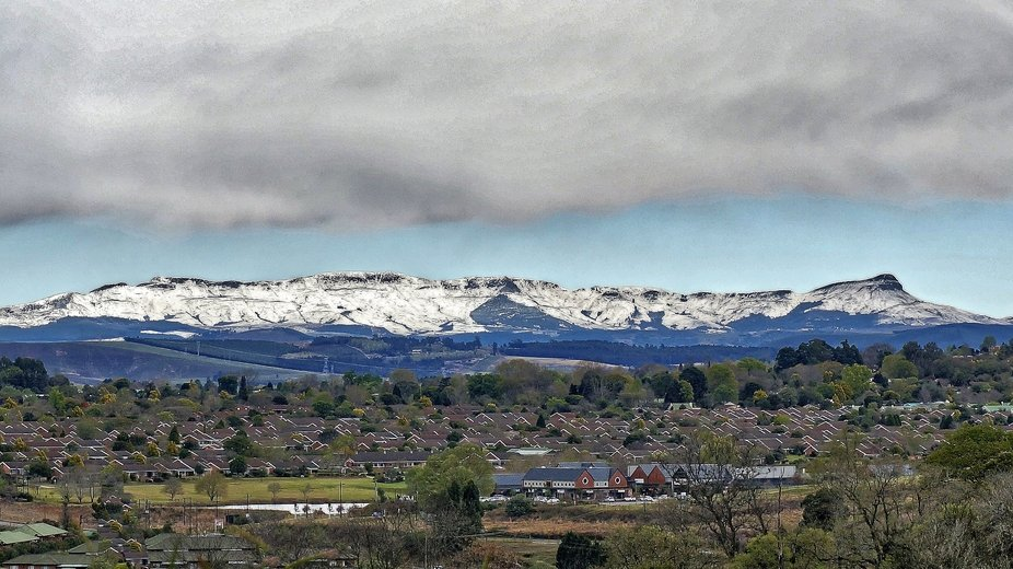 A rare snowfall in South Africa's Midlands.