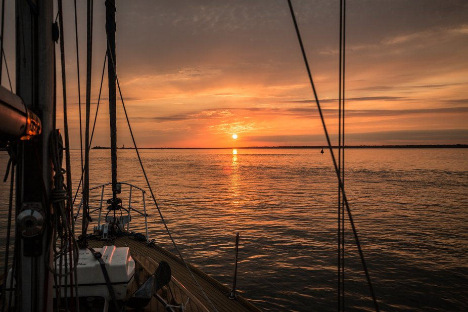 September Sunset, Yarmouth, England