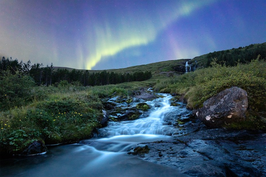 It was THE night on my trip to Iceland: The first clear night after a week and high aurora activi...