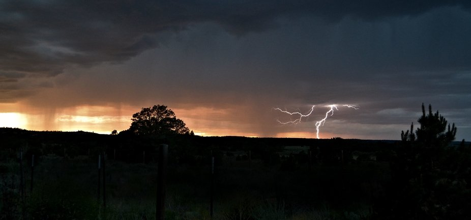 Storm at sunset in Candy Kitchen, NM