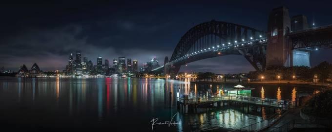Sydney Harbour  by richardvandewalle - Bright City Lights Photo Contest