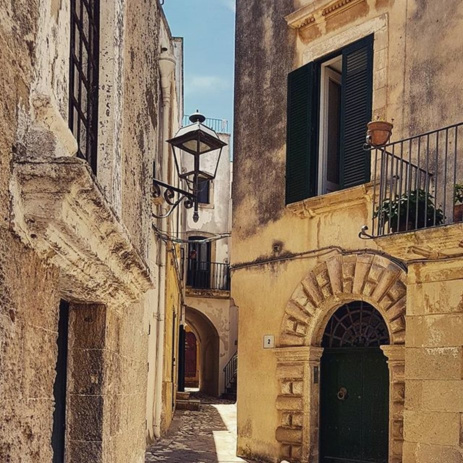 A corner of Otranto old town in a sunny day of June