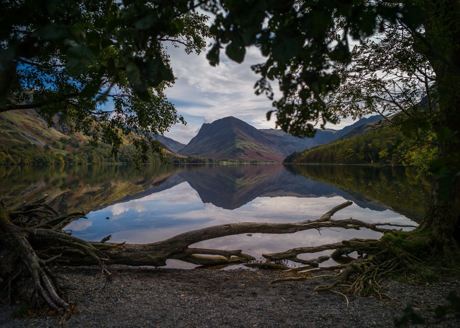 Taken at Buttermere lake in Cumbria UK, after a trek we came to a clearing with still waters and ...
