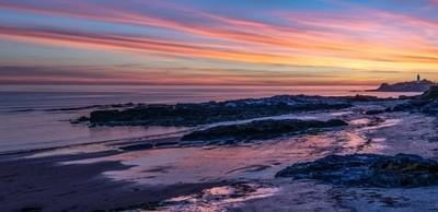 Godrevy--sunset-Cornwall