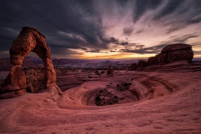 Delicate Arch getting some sunset light
