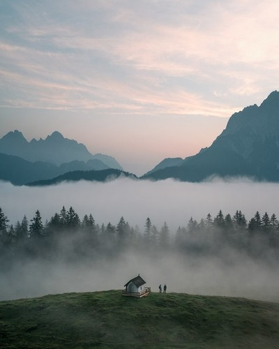 Mystic Morning in the Alps