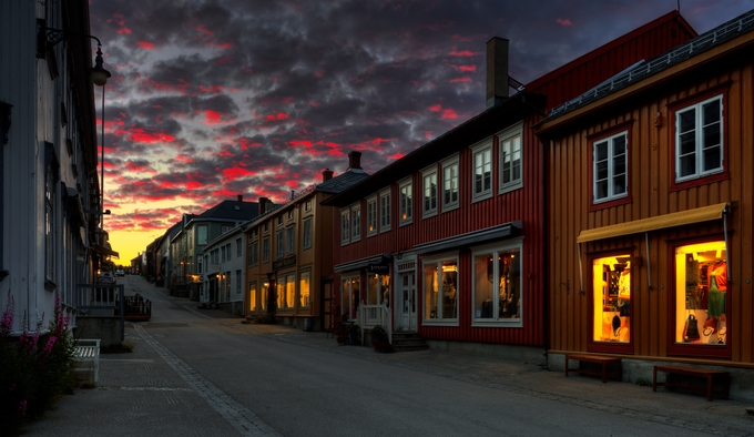 Røros by runeaskeland - Bright City Lights Photo Contest