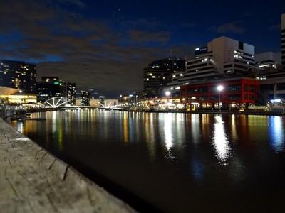 Midnight lights on Melbourne