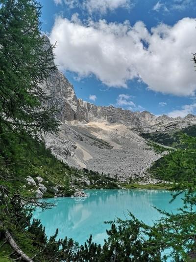 Milky blue Alpine lake